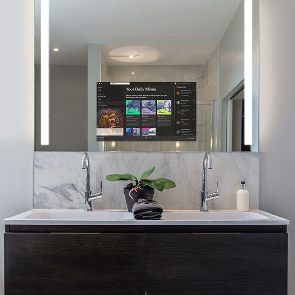 RM Living Cincinnati Interior Design Bathrooms Mirror by Electric Mirror