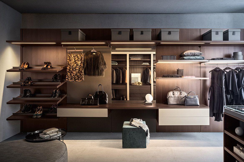 RM Living Contemporary Interior Design Custom Closet By Pianca