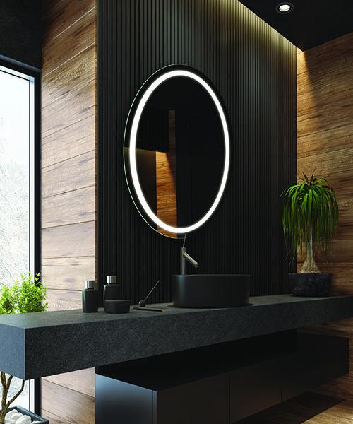 RM Living Cincinnati Contemporary Bathrooms Mirror by Electric Mirror