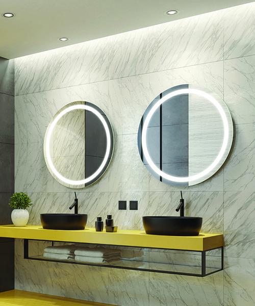 RM Living Interior Design Cincinnati Modern Bathroom Mirror by Electric Mirror