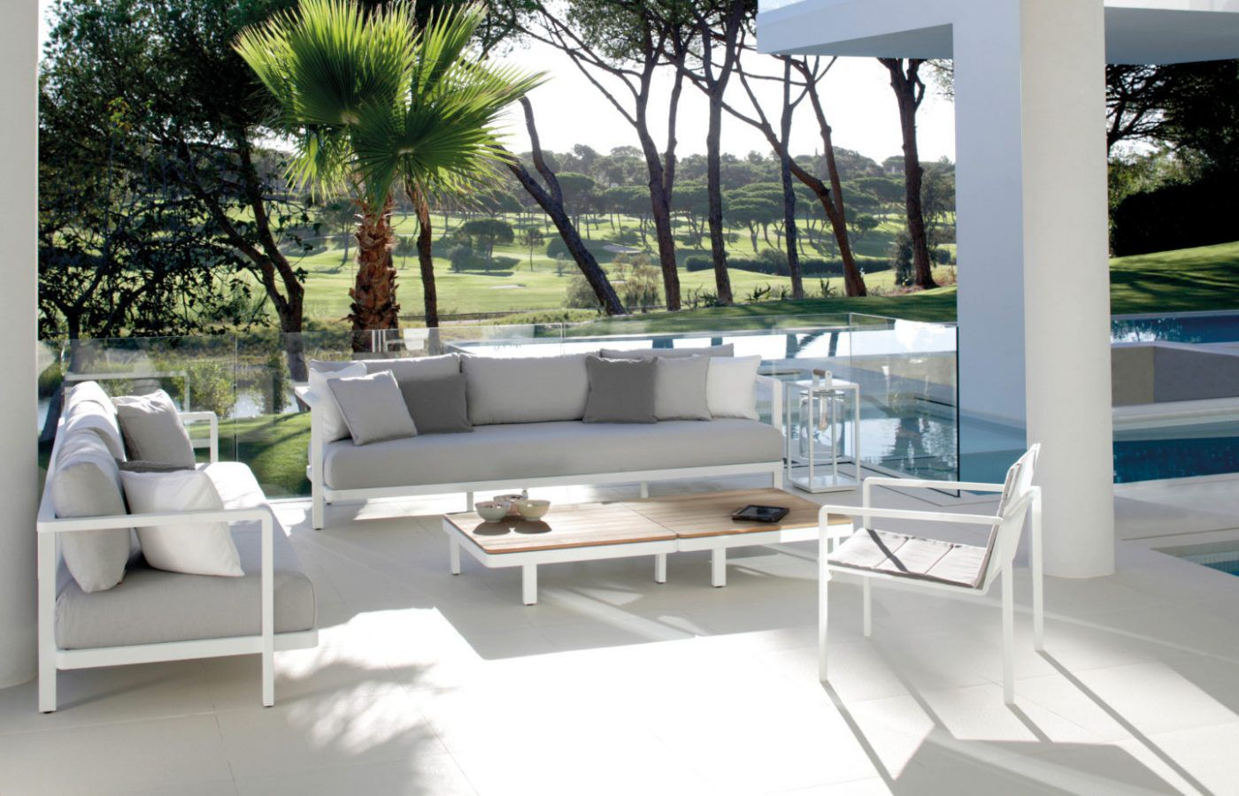 RM Living Cincinnati Custom Contemporary Outdoor Furniture By Royal Botania