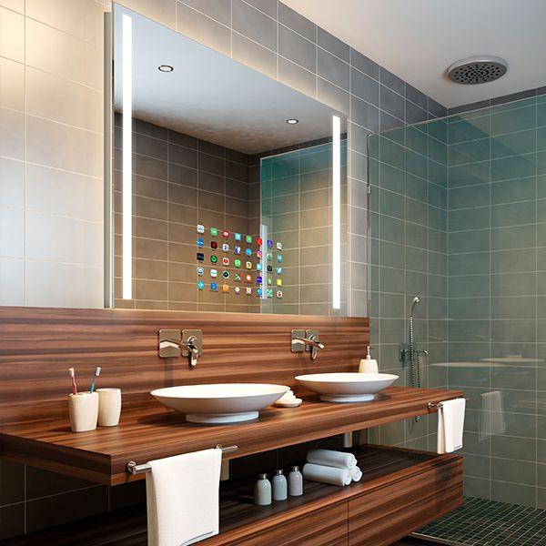 RM Living Cincinnati Modern Bathroom Interior Design Mirror by Electric Mirror