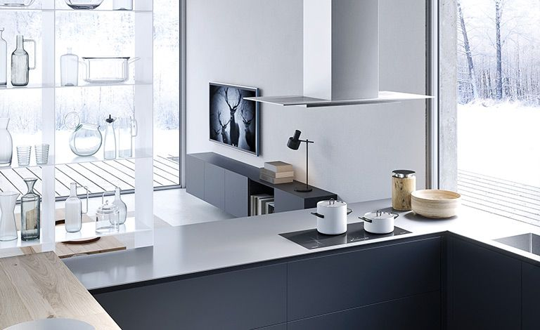 RM Living Cincinnati Custom Contemporary Interior Design Kitchen By The Cut