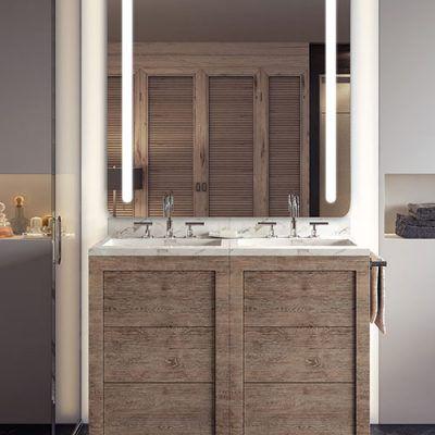 RM Living Cincinnati Interior Design Contemporary Bathroom Mirror By Electric Mirror