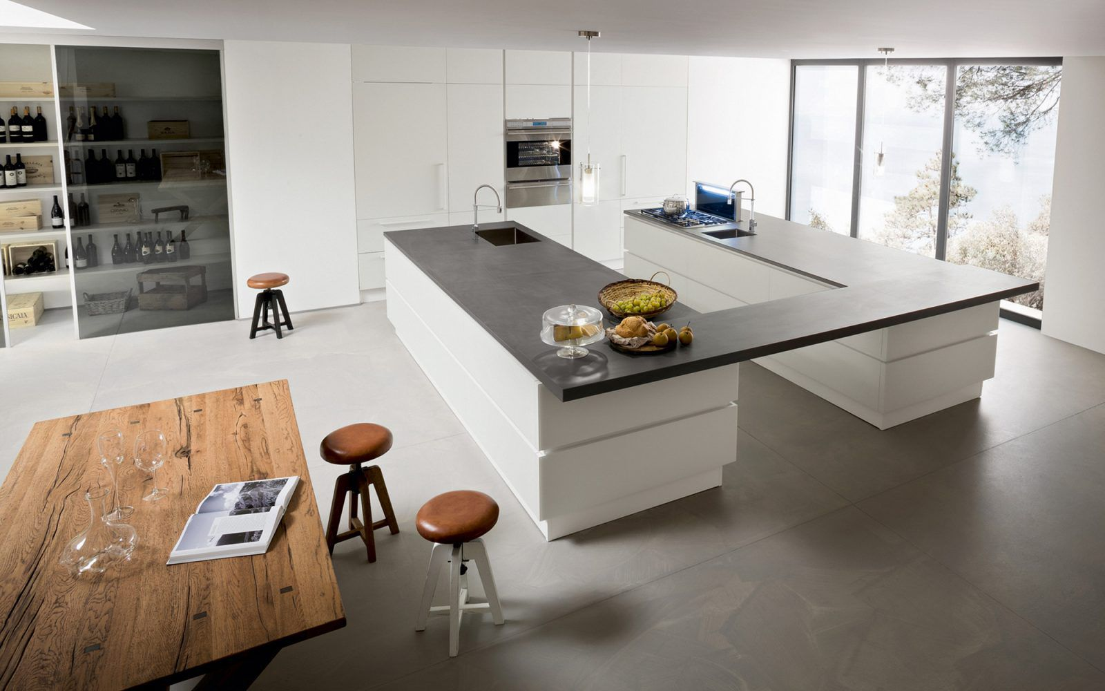 RM Living Cincinnati Contemporary Interior Design Custom Kitchen By Record